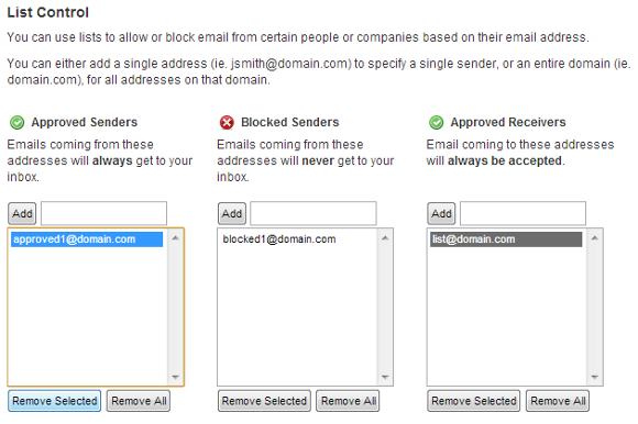 My_Execulink_spam_settings_list_control.png