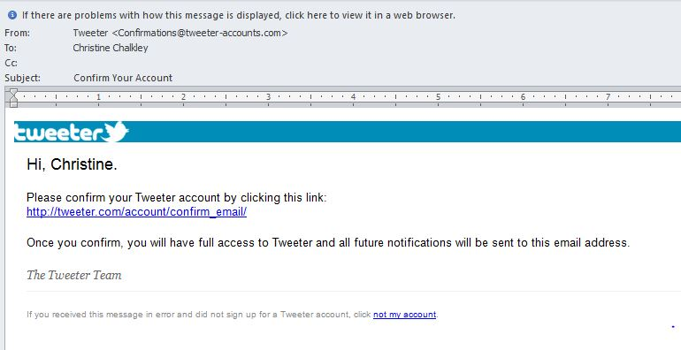 Tweeter Email