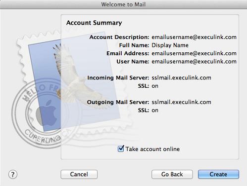 Mac Mail - POP with SSL Setup (V5&6) | Execulink Telecom