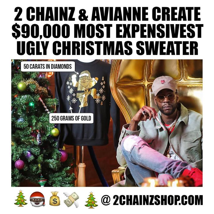 2 Chainz Expensive Sweater