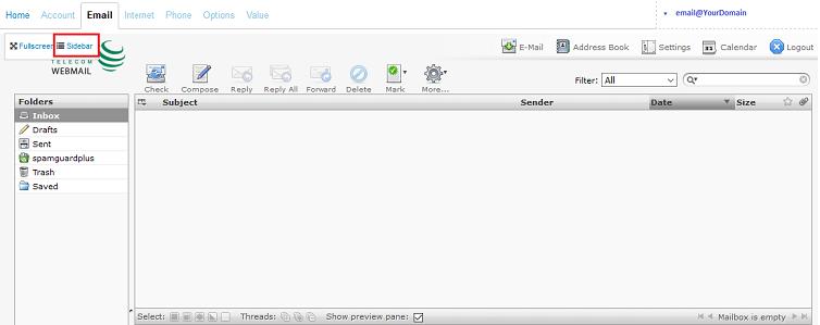 Webmail Sidebar