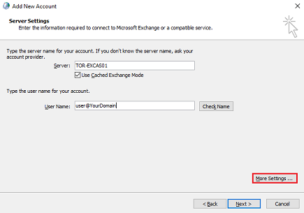 MS Exchange Manual Setup 3