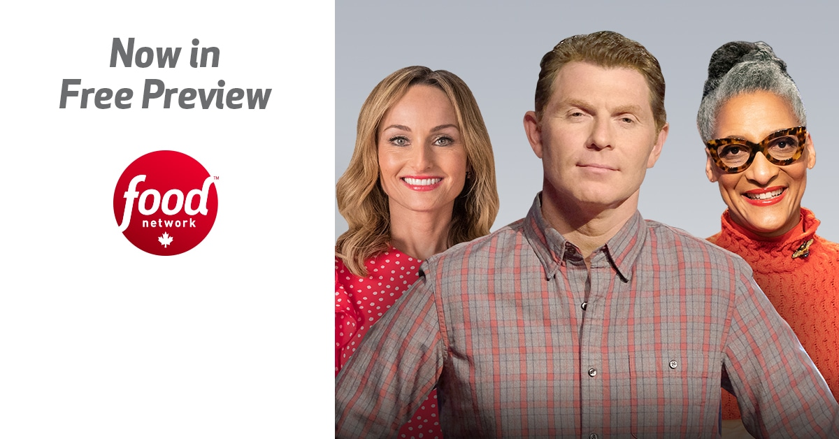advertising the free preview for food network