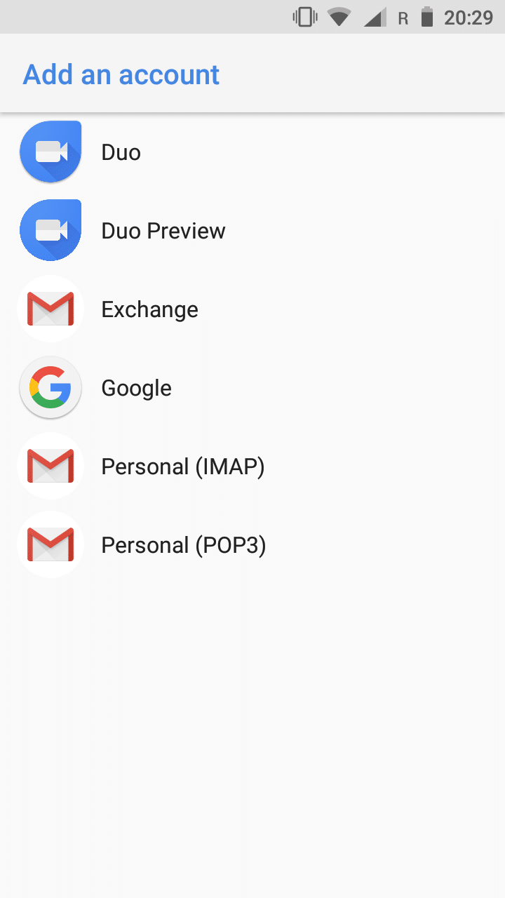 Android - Email - Setup | Execulink Telecom