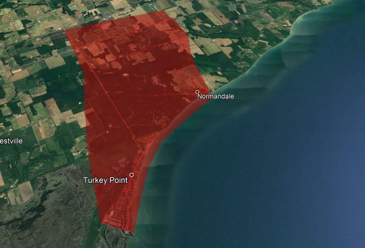 Turkey Point Fibre Build Area